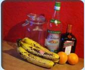 Rhum Bananes Flambées au Cointreau